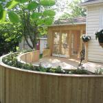 Cedar Deck with Planter