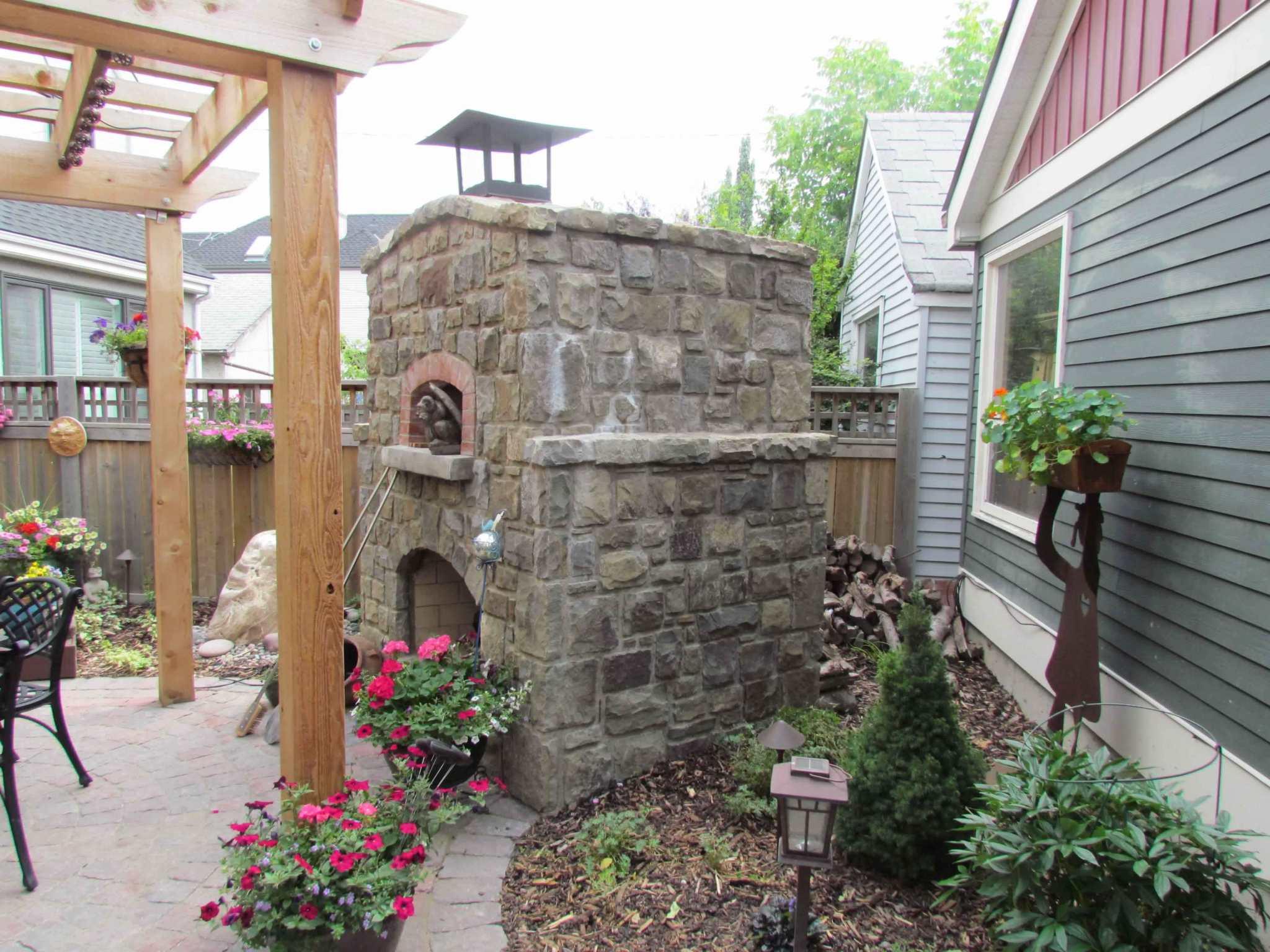 Masonry Outdoor Fireplace