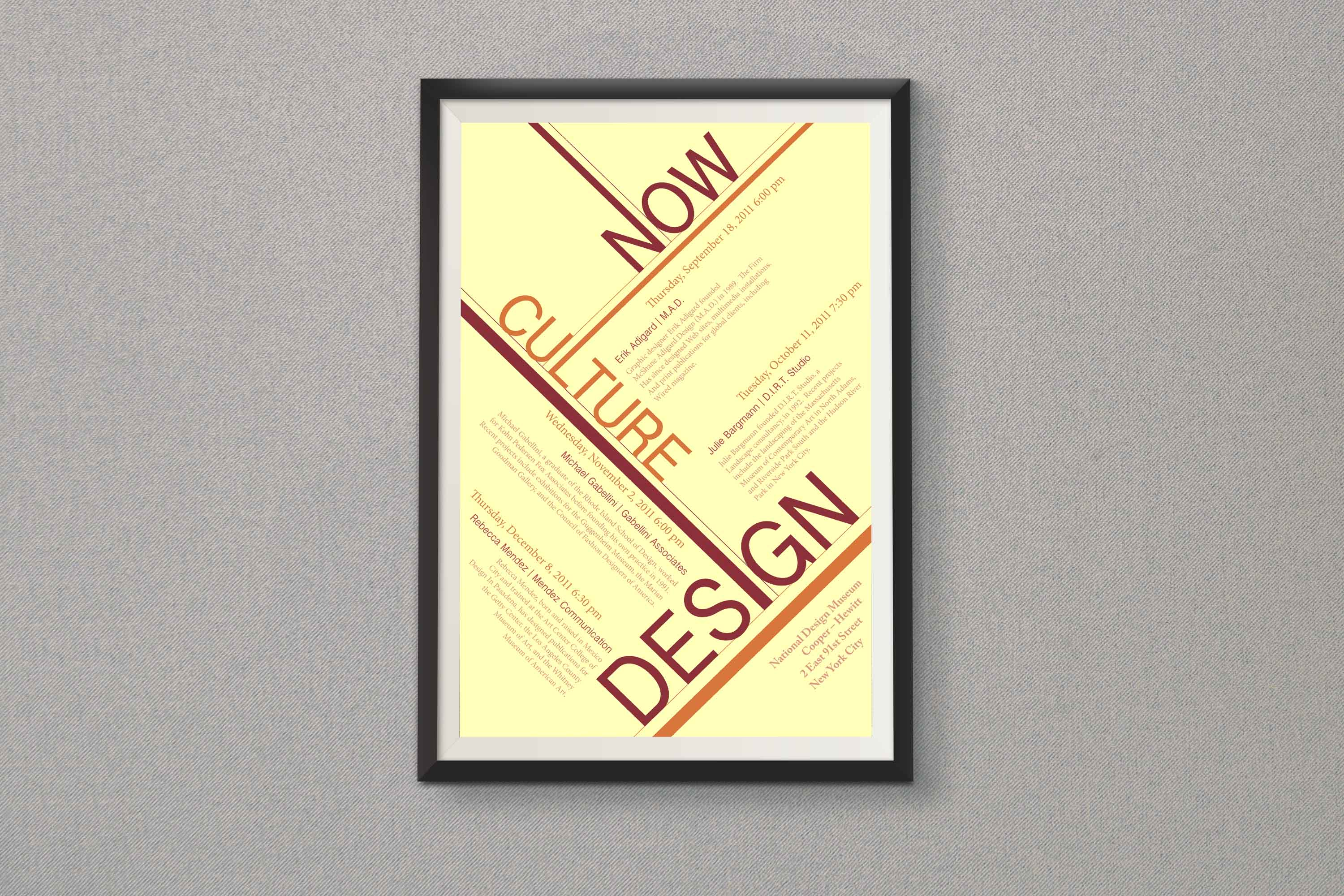 Design Culture Now Poster