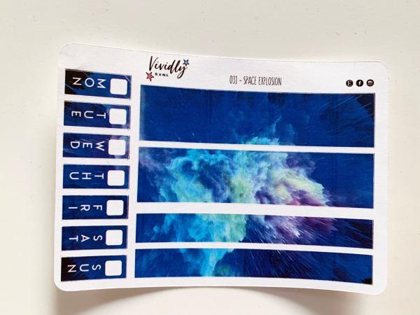 MINI KIT | Space Explosion Bright Colors Hobonichi Techo Weeks Weekly Kit | Hobonichi, Sticker Kit, Weekly Stickers, Weekly Kit, Cheap Hobo
