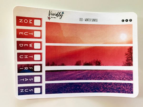 MINI KIT | Winter Sunrise Hobonichi Techo Weeks Weekly Kit | Hobonichi, Sticker Kit, Weekly Stickers, Weekly Kit, Cheap Hobo Kit