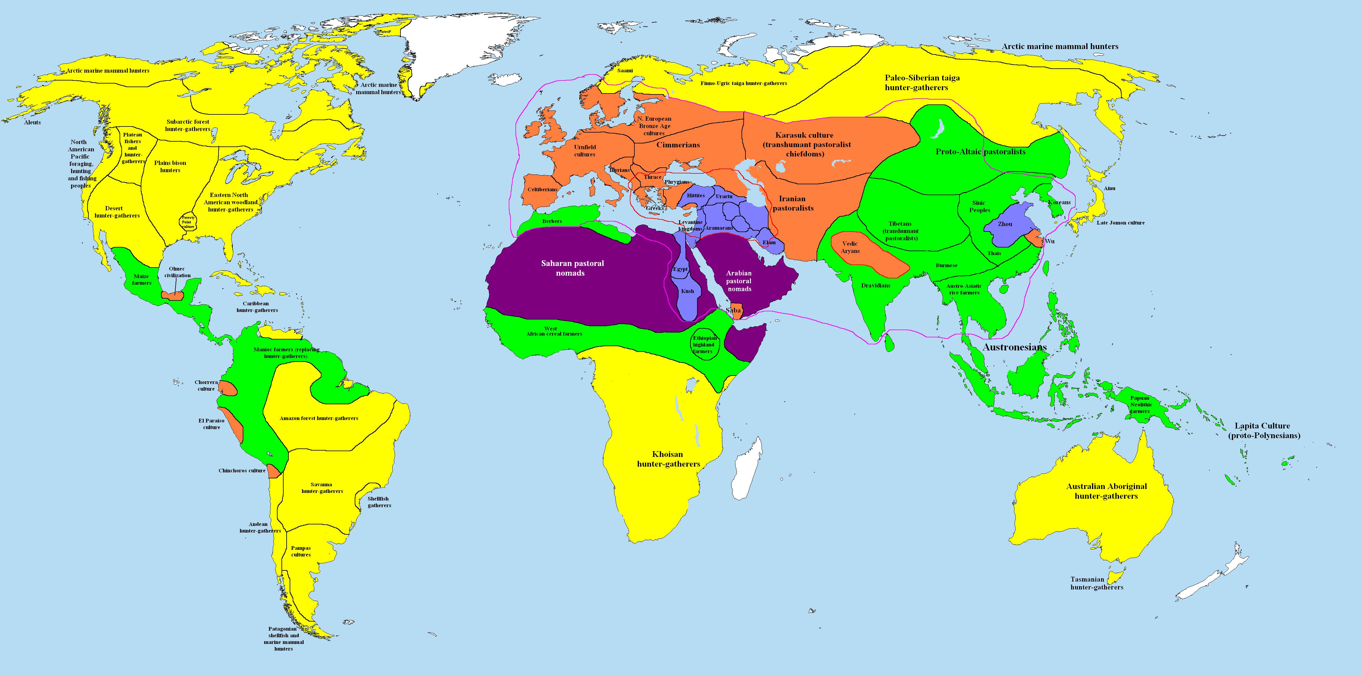 World 1000 BC