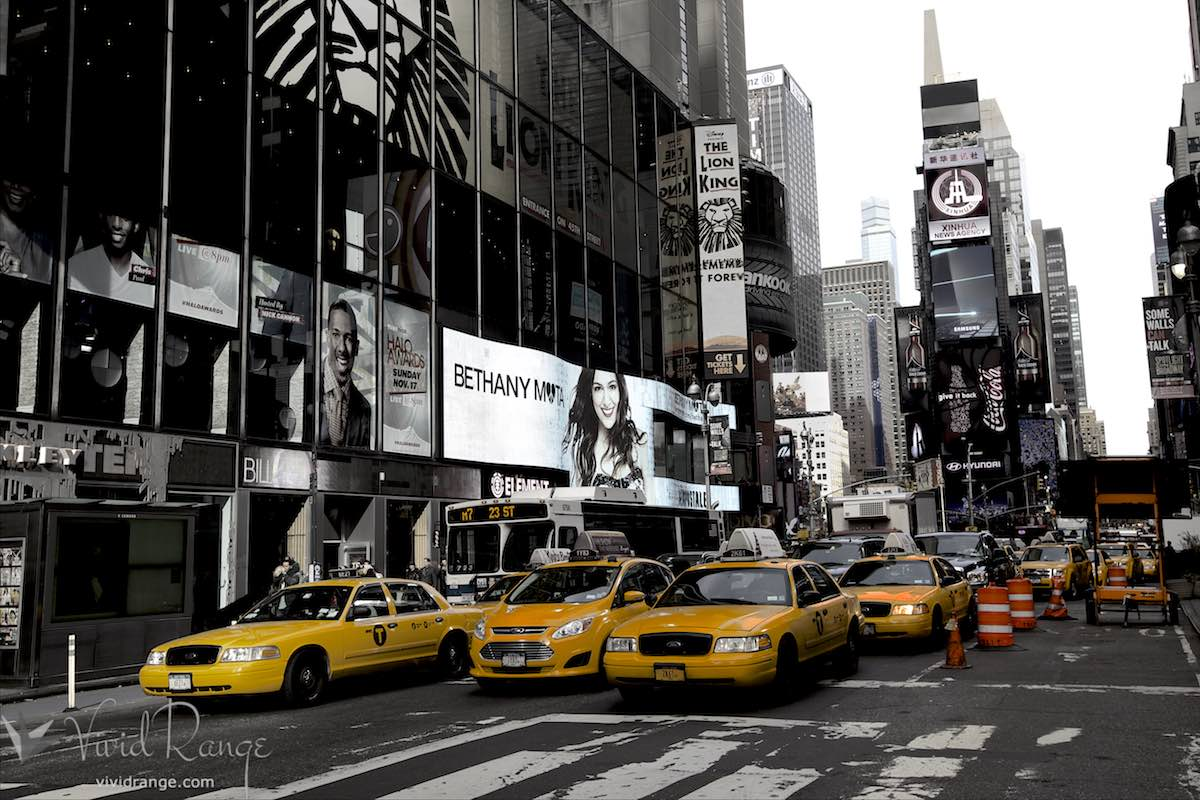 Iconic Yellow Cabs