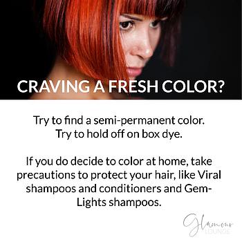 fresh color hair tips