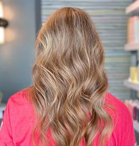 grey covering to brown vivid rose salon