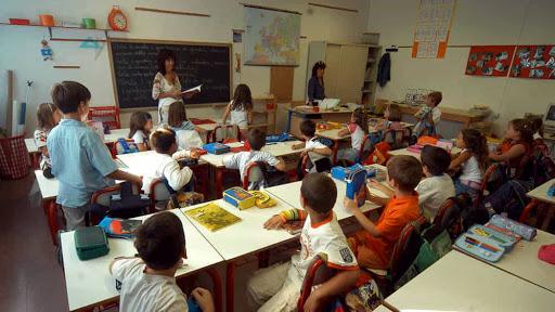 escuela, clase, alumnos