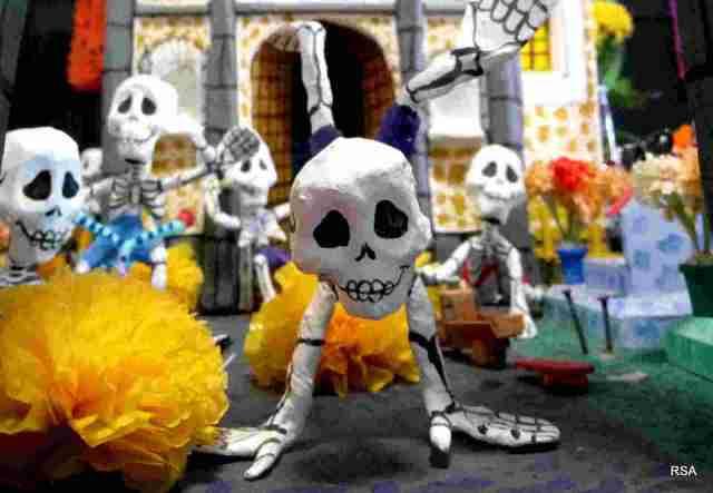 dia de los muertos esqueletos