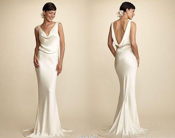 Alix & Kelly Elegant Silk Organza Wedding Gowns Picture 1