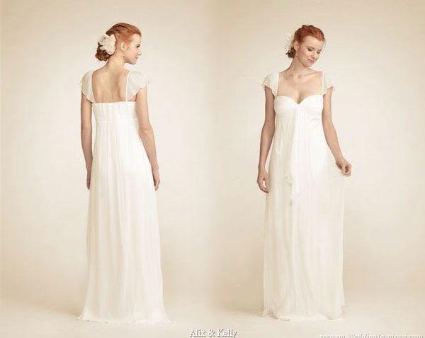 Alix & Kelly Elegant Silk Organza Wedding Gowns Picture 4