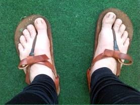 LightRun Sandals mojadas lluvia