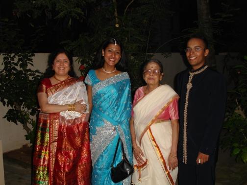 Amma, Keerthi, Ammumma, and I