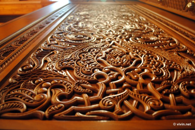 Wood Carving at the Sultan Qaboos Grand Mosque