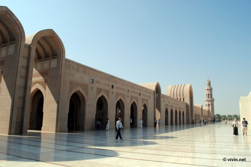 External compound at Sultan Qaboos Grand Mosque