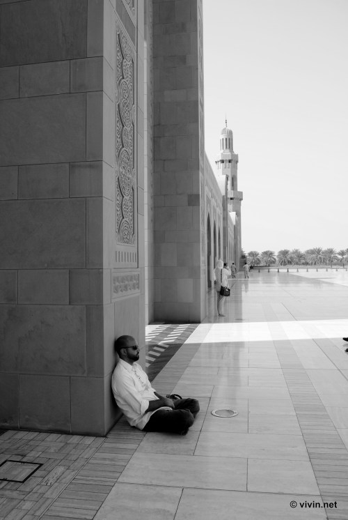 Michael at the Sultan Qaboos Grand Mosque