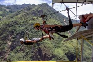 El Canopy mas rapido y largo de Ecuador