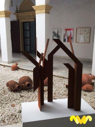 "Marga Gª Pinto. Escultura ""Arboleda"" Medidas: 108x60x30"