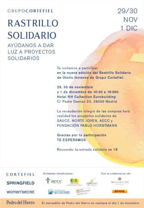 Rastrillo Solidario de Otoño. Grupo Cortefiel