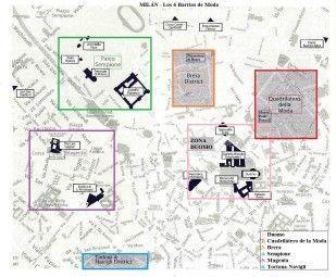 Mapa de Milán