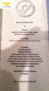 Restaurante DSTAgE. Menú Degustación