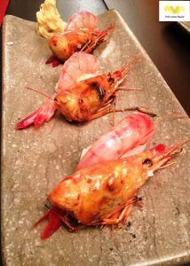 Nigiri de gamba roja. Restaurante Kabuki