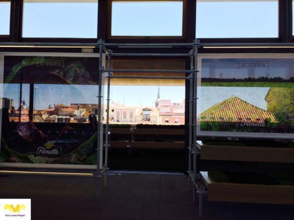 Terraza del Colegio Oficial de Arquitectos de Madrid en el barrio de Chueca