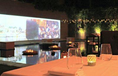 Terraza ardín del restaurante Benarés Madrid