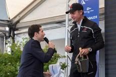 Ernesto Bertarelli, skipper du syndicat Alinghi a terminé la course sur la deuxième marche du podium. Photo: Oreste Di Cristino
