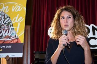 Chloée Coqterre, directrice exécutive du Montreux Comedy Festival en conférence de presse. © Oreste Di Cristino