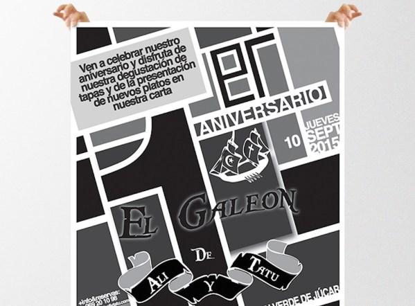Cartel de Aniversario de El Galeón