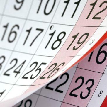 ¡Menudo Calendario! La que se avecina.