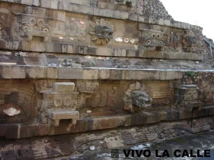 Detalle Templo de Quetzalcoatl