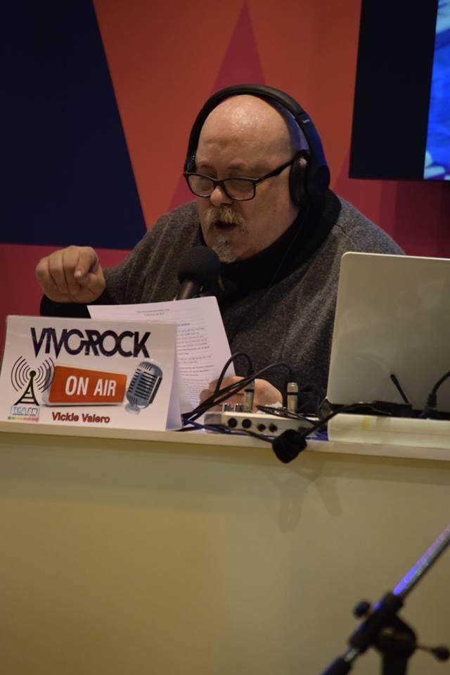 Vickie Valero, director de Vivo Rock, durante el programa de ayer en FiturVivo Rock: