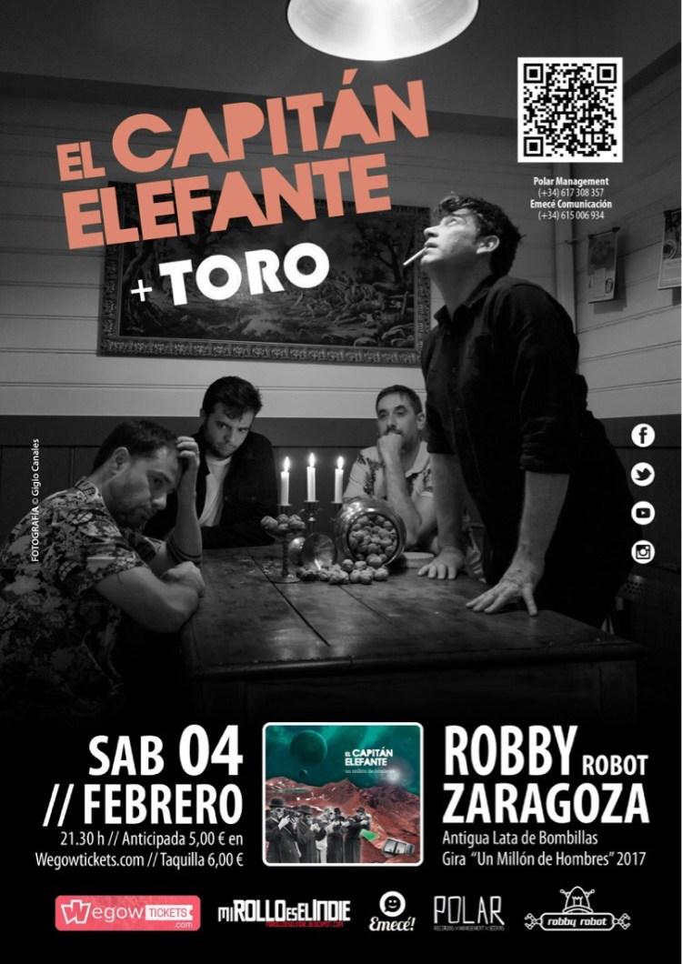 Cartel de El Capitán Elefante + Toro