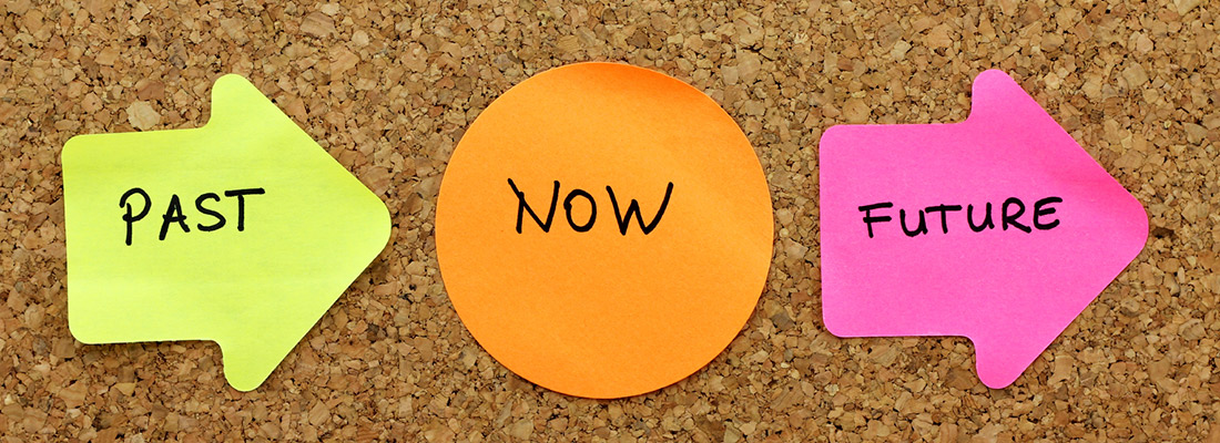 Feedback Forward - Past, Now, Future Sticky Notes