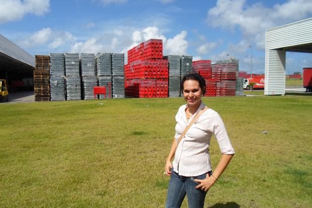 Eu na Fábrica da Coca-Cola em Maceió!