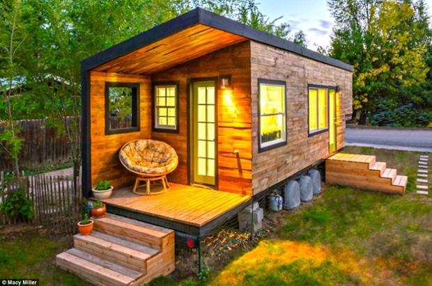 Macy Miller e sua casa sustentável.