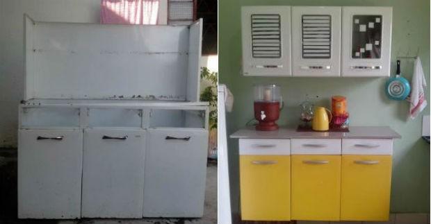 O armário de Carol foi resgatado de uma lixeira em Palmas (Foto: Carol dos Anjos/Arquivo Pessoal)