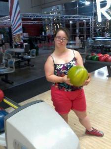 louise au bowling pendant les vacances