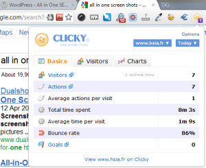 clicky wordpress