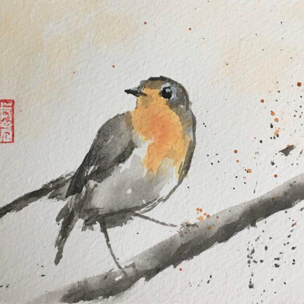 Sélection d'oiseaux (encres)