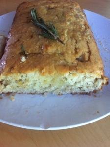 Cake huile dolives, romarin et citron frais2