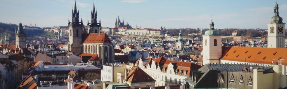 """Praha chụp từ tháp """"Prašná brána"""""""