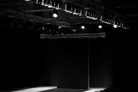 empty fashion show stage