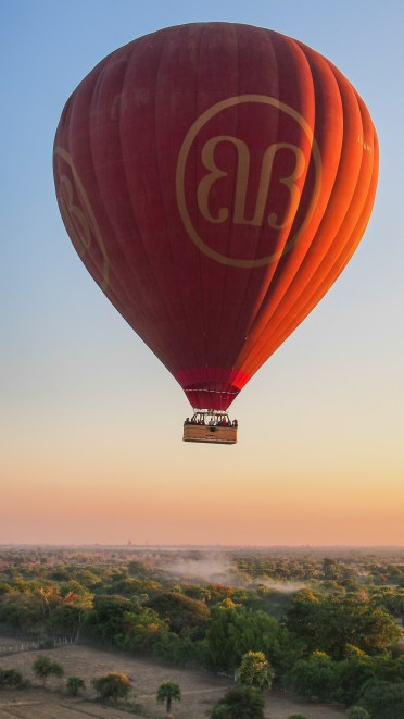 Balloons Over Bagan Floating