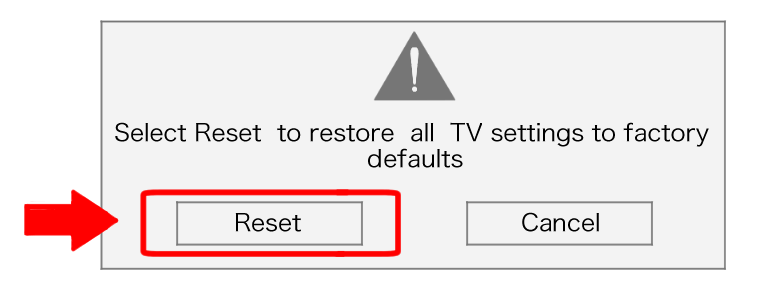 are you sure you want to reset TV settings to factory defaults make your tv just like new how to reset a vizio tv in 5 easy Home Electrical Wiring Diagrams at reclaimingppi.co