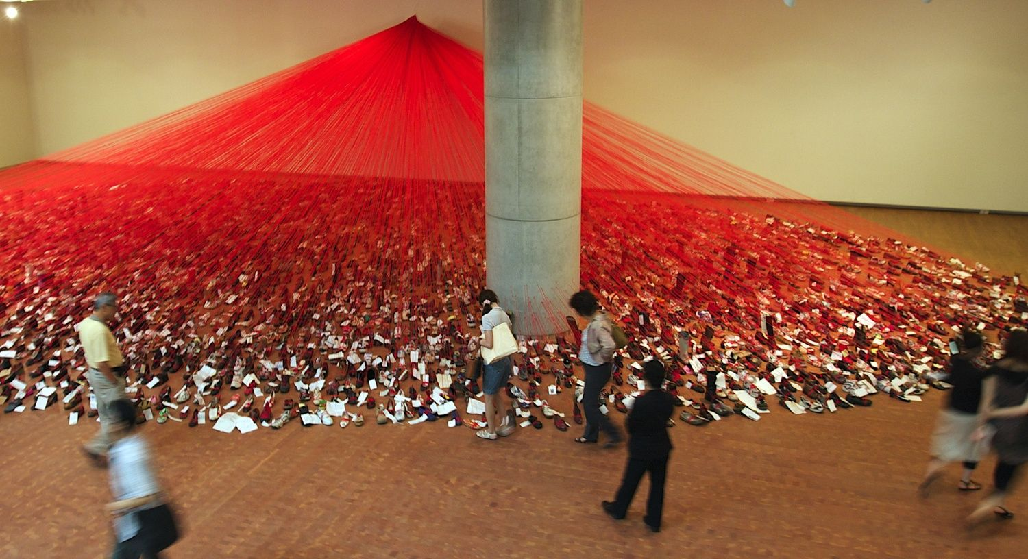Chiharu Shiota--Over The Continents, installation view