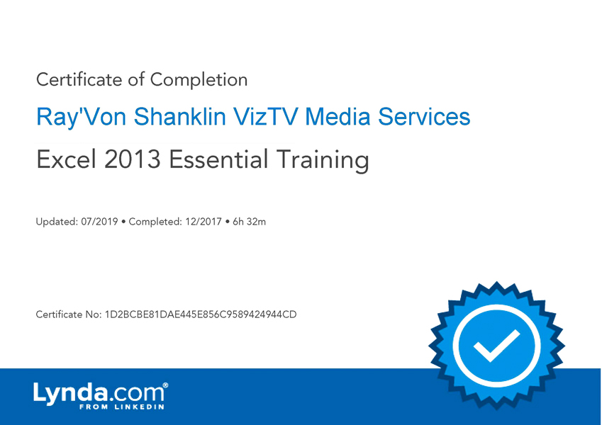 Excel 2013 Essential Training