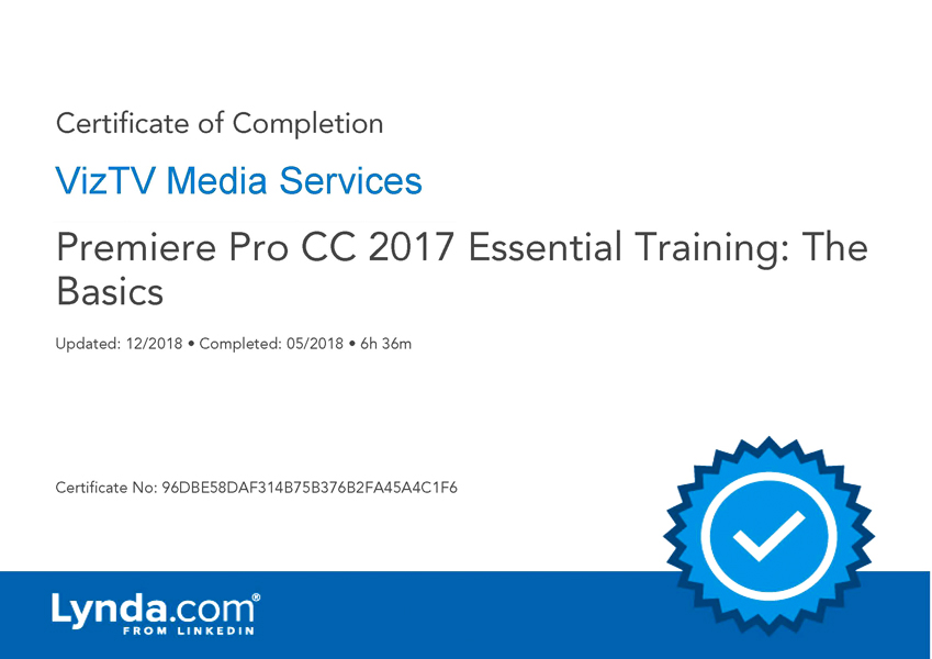 Premiere Pro CC 2017 Essential Training
