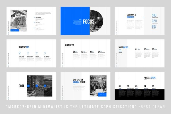 GridsMinimal Keynote Template Vizualus