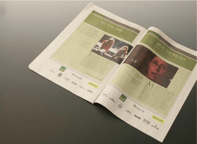 New identity of the festival Days of the comedy - newspaper spread 4